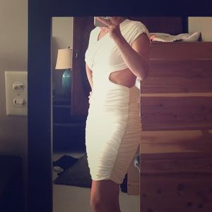 Bebe white cut out dress